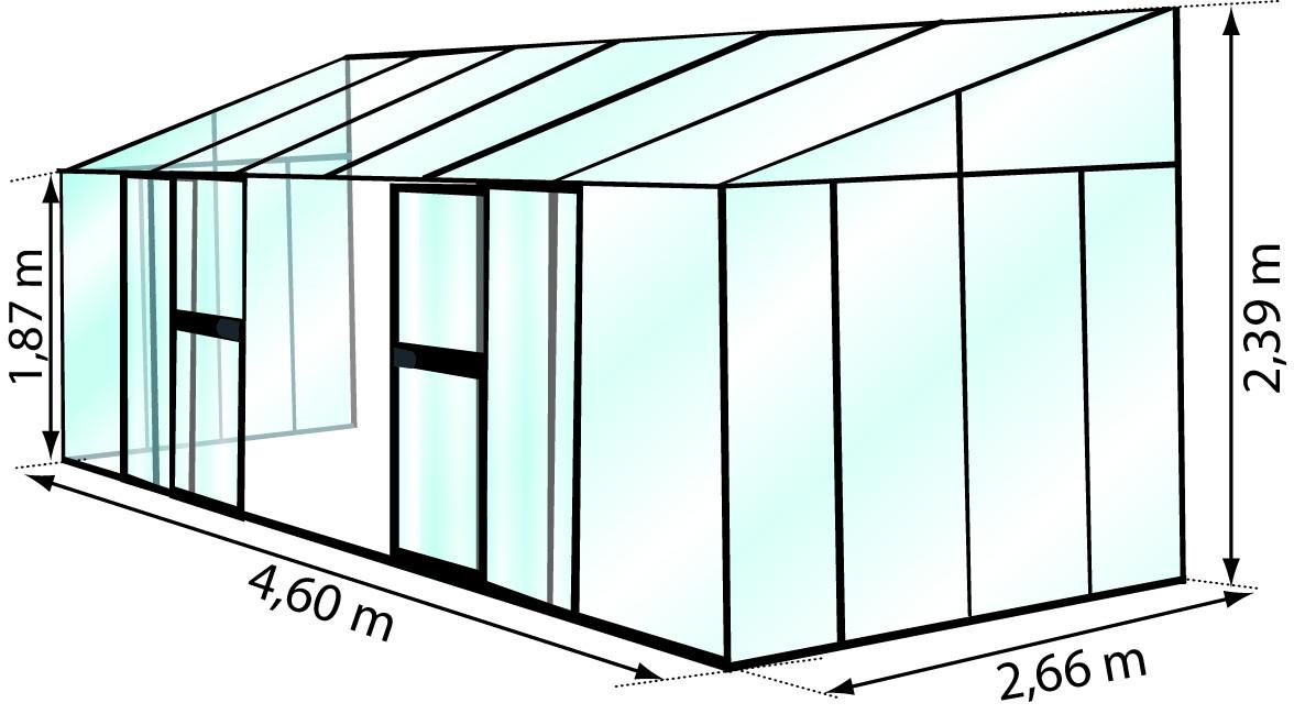 Schéma de la grande serre