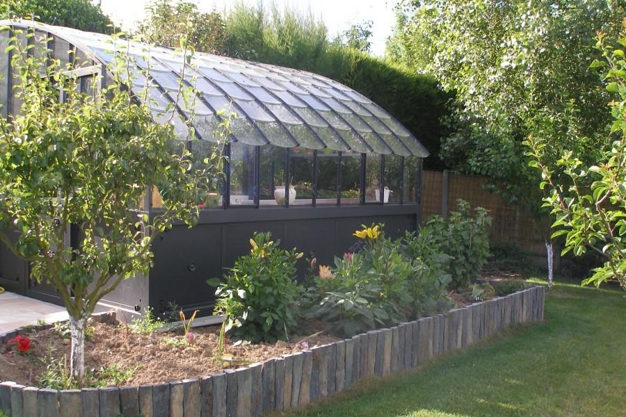 Serres à l\'ancienne en verre et aluminium - Jardin Couvert