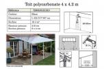 Toit-terrasse - auvent 4 m