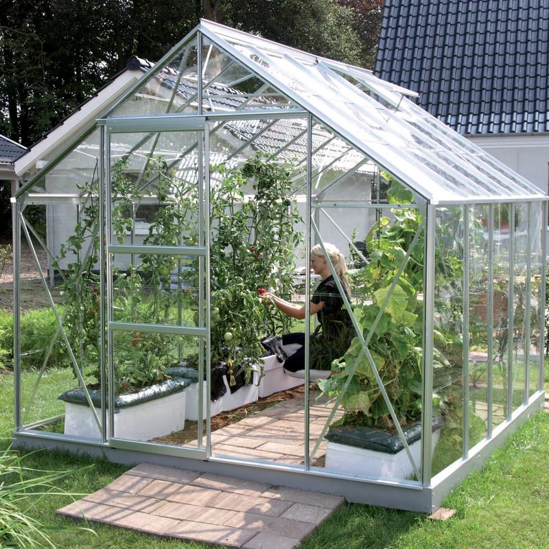 Serre de jardin Merkur aluminium