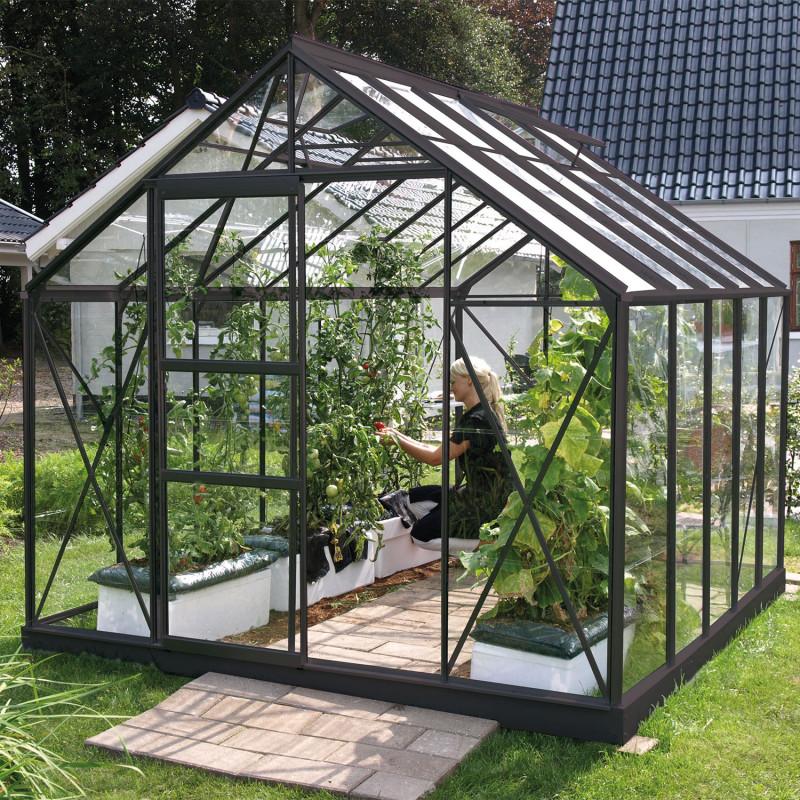 Serre de jardin Merkur anthracite