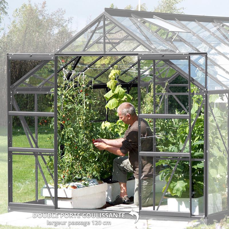 Serre de jardin Uranus double porte