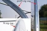 Profil zig zag équipé 2 m