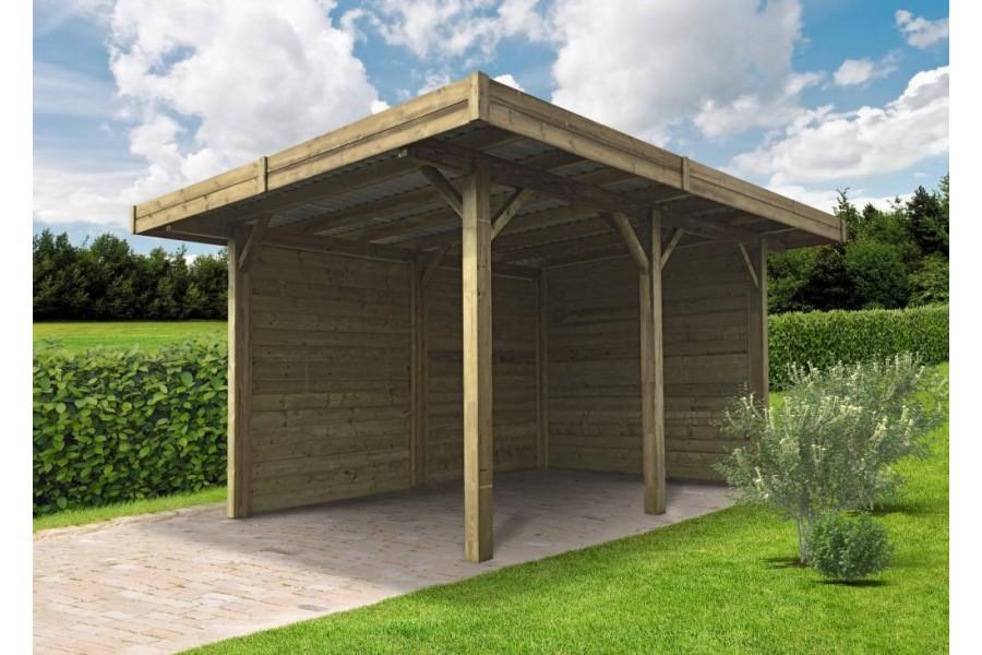 carport semi ouvert 4 m x 5 m jardin couvert. Black Bedroom Furniture Sets. Home Design Ideas