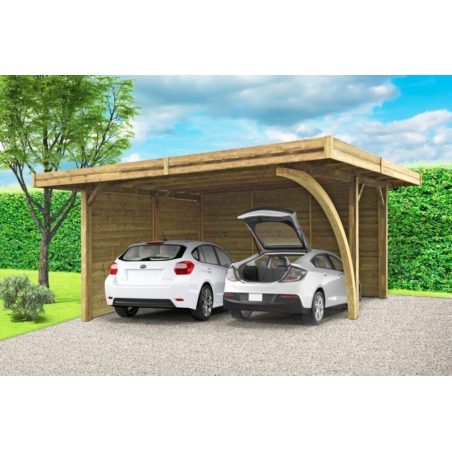 Carport double 5 m x 6 m