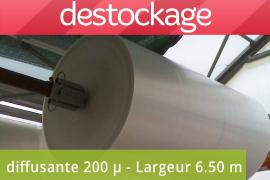 Bâche Lumisol diffusante 200 microns 6.50 m