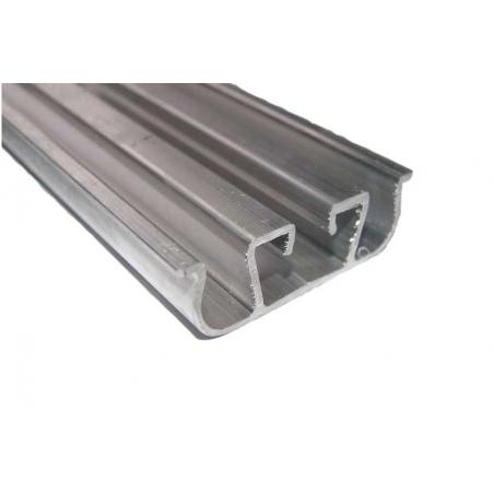 Barre à clips Aluminium 2m équipée