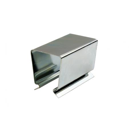 Clips carrés en acier pour tube 25 x 25