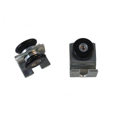 Kit de 2 roulettes de porte pour serre 4 mm