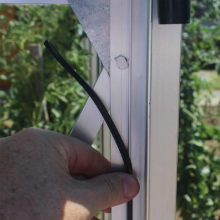 Joint noir pour gamme de serre verre 3 mm