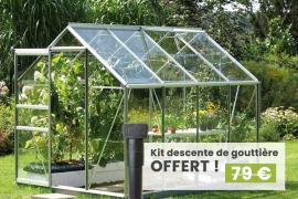 Serre en verre Allium largeur 1.93 m