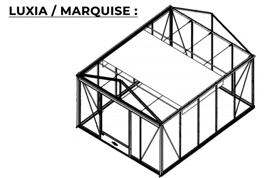 Schéma kit d'ombrage Luxia et Marquise